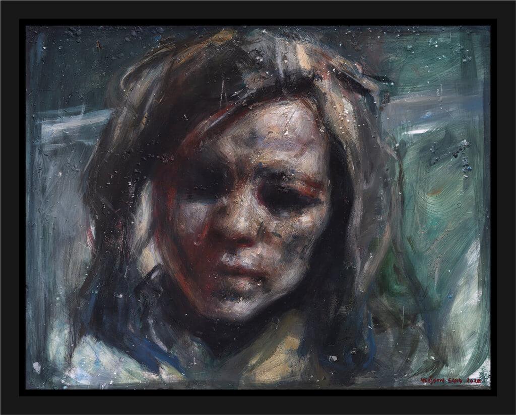 Maleri Studie til Kvinne på en Vei