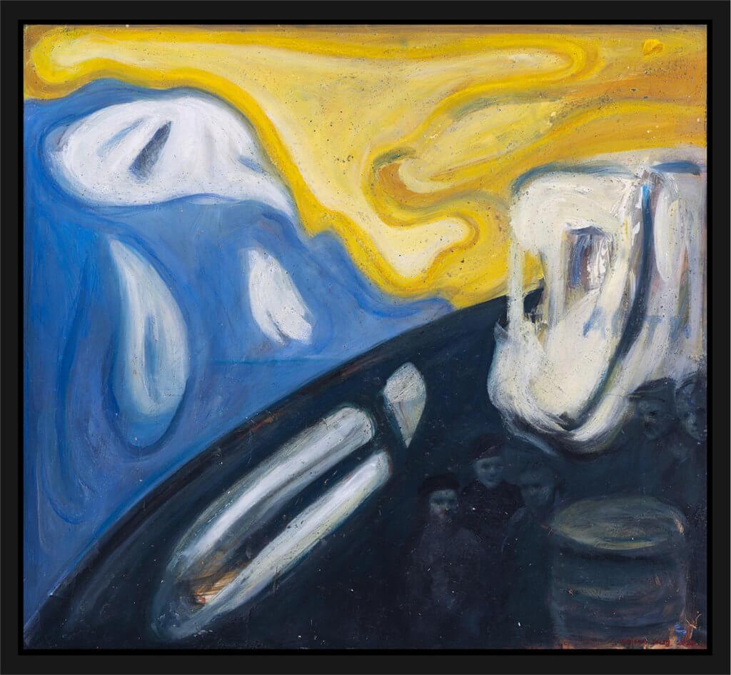 Maleri Studie til Shetlandsgjengen