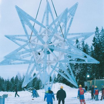 Construction of the Kepler Star.⁣ ⁣ 45 meters (135-foot-tall) geometric…